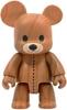 "Wood Grain Teddy Bear Qee 8"" - Dark"