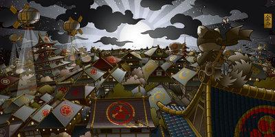 Moonrise_rooftops-huck_gee-giclee-trampt-4522m