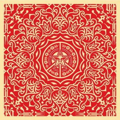 Ornate_pattern_-_red-shepard_fairey-screenprint-trampt-7254m