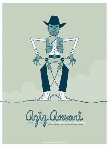 Aziz_ansari_-_sick_em_up_austin-invisible_creature-screenprint-trampt-8179m