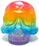 Skull Head - Clear Rainbow