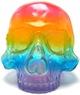 Skull Head - Clear Rainbow