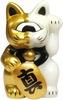 Mini Fortune Cat - Gold/White Split