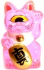 Mini Fortune Cat - Clear Pink