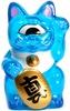 Mini Fortune Cat - Clear Blue