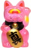 Mini Fortune Cat - Clear Pink w/ Red Eye