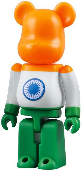 """Medicom 100/% Bearbrick 18 Be@rbrick Series 18 Flag /"""" India /"""""""