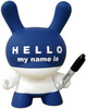 "Hello My Name Is (HMNI) 8"" - Blue"