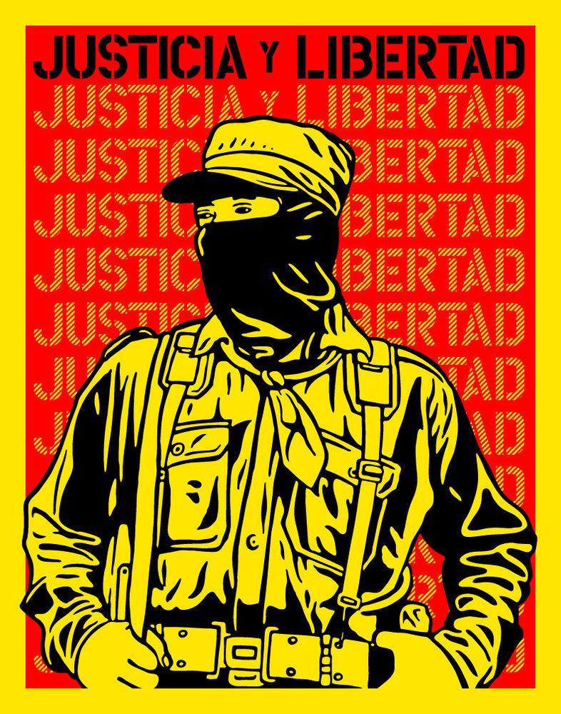 Zapatista_Justicia_Y_Libertad-Ernesto_Yerena-Screenprint-trampt-19724o.jpg (786×1000)