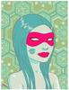 Pink Mask (Blue)