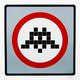 Warning Invader (Silver Variant)