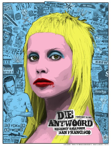 Die_antwoord_-_san_francisco_ca_2012_-_blue_variant-zoltron-screenprint-trampt-39171m
