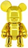 "Metallic Bear Qee 7"" - Gold"