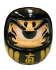 Fortune Daruma - Black/Gold/Gold