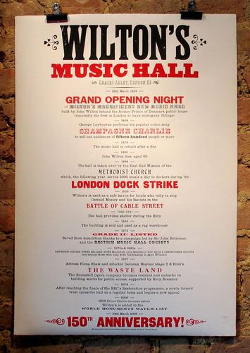 wilton s music hall letterpress by richard ardagh trampt library