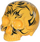 Skull Head - Pinstriped Tiger Yellow