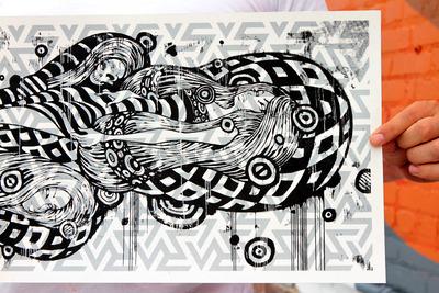 Sleeping_beauty_-_black_edition-tristan_eaton-screen_print-trampt-54603m