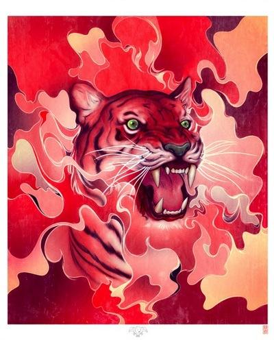 Cinnamint_tiger-james_jean-gicle_digital_print-trampt-56636m