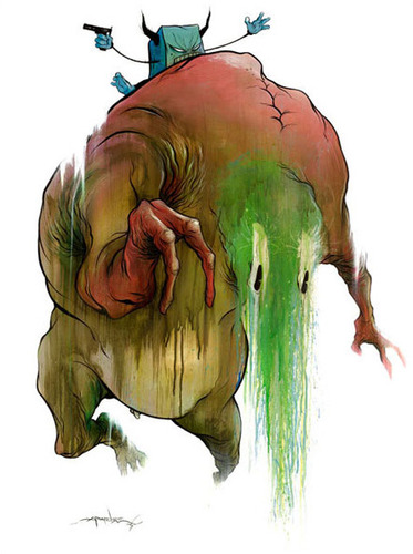 Riding_the_brown_lazy_face-alex_pardee-gicle_digital_print-trampt-57543m
