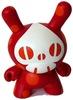 Polka-Dot Spade-Skull - Red