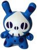 Polka-Dot Spade-Skull - Blue