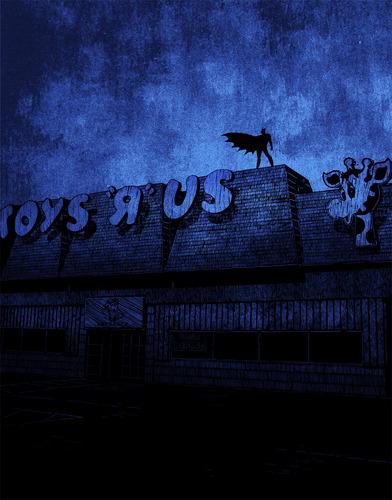 Batman_on_toys_r_us-daniel_danger_olly_moss-screenprint-trampt-63500m