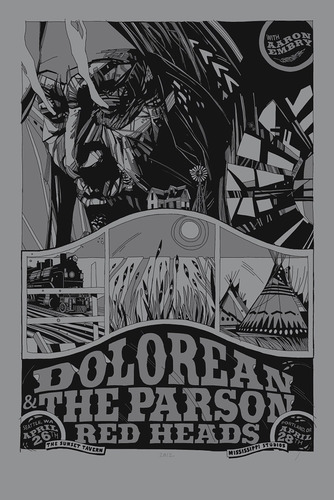 Dolorean_-_silver_variant-tyler_stout-screenprint-trampt-63768m