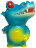 Pocket Mummy Gator - GID / Light BLue