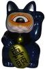Fortune Cat - Navy/Orange