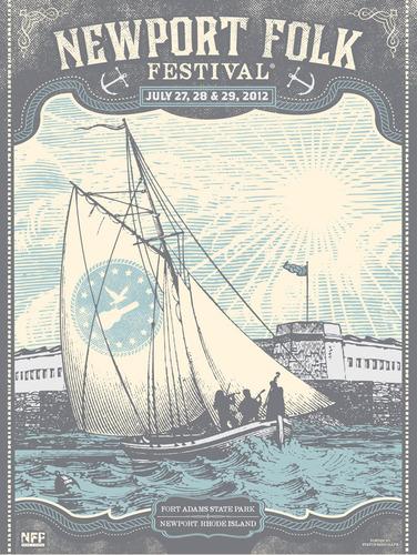 Newport_folk_festival_-_newport_ri_2012-status_serigraph_justin_helton-screenprint-trampt-67219m