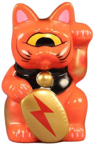 Mini_fortune_cat_-_orange_w_lightning_bolt-realxhead_mori_katsura-fortune_cat-realxhead-trampt-67473m