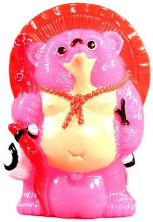 Mini_tanuki_-_pink_with_white_eyes-realxhead_mori_katsura-mini_tanuki-realxhead-trampt-69467m