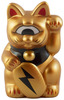 Mini Fortune Cat - Gold w/ Lightning Bolt