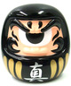 Fortune Daruma - Black/Gold/White