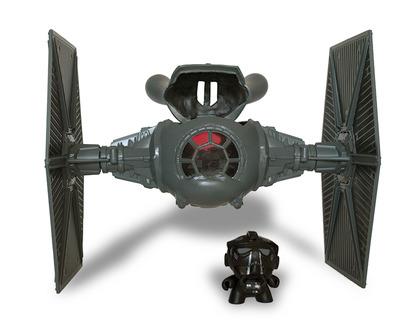 Jumbo_dunny_tie_fighter_w_pilot-manlyart_jason_chalker-dunny-trampt-77958m