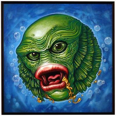 Creature_bounces_among_us-james_groman-acrylic-trampt-79097m