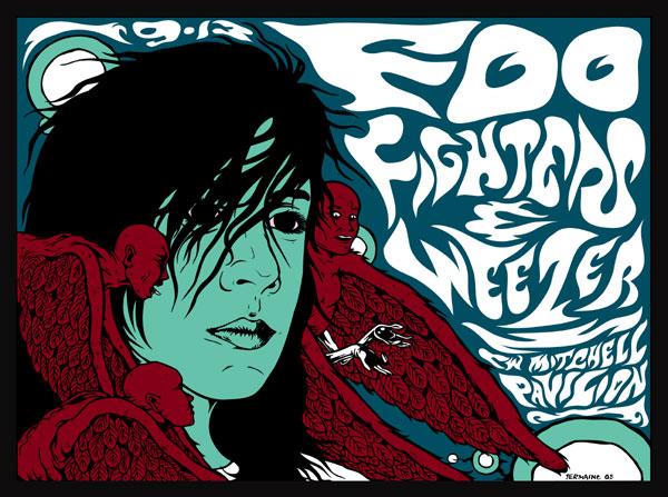 Foo Fighters Weezer 2005 Screenprint By Jermai