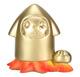 Metallic Gold Rocket Squeed