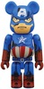 Captain America Damage Be@rbrick