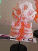 Misfortune Cat Skeleton - White/Orange