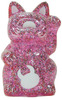 Mini Fortune Cat - Pink Glitter Uamou