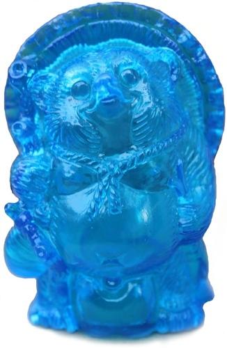 Mini_tanuki_-_unpainted_blue_clear-realxhead_mori_katsura-mini_tanuki-realxhead-trampt-92116m