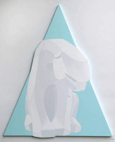White_polar_bear_on_ice_blue_triangle-ajee-acrylic_paint_on_canvas_on_wood_chassis-trampt-94244m