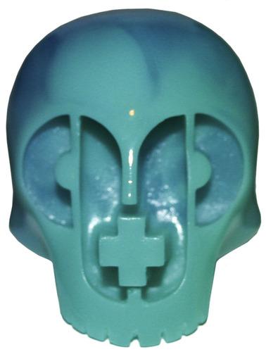 Paper__plastick_skull_-_pentimento_variant_ocean-dubose_art-paper__plastick_skull-paper__plastick-trampt-100091m