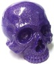 Skull Head - Purple Glitter