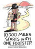 10,000 Miles Starts With One Footstep