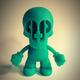 Paper + Plastick Mascot Prototype - Neon Green