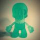 Paper + Plastick Mascot Prototype - Glow in the Dark