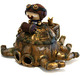 Steampunk stewie and his mechanical cephalopod