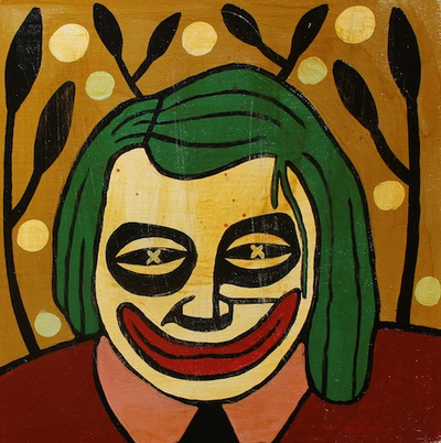 The_joker-mike_egan-acrylic_and_shellac_on_wood_panel-trampt-112177m